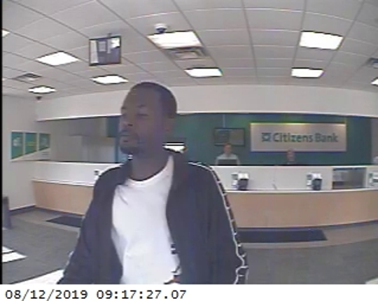 Police said Sykes' image was captured during a robbery by the bank's video security system.