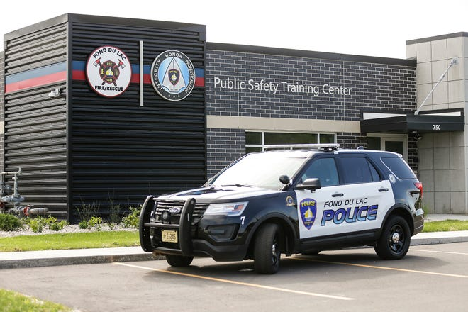 A Fond du Lac police vehicle sits in front of the Public Safety Training Center  at 750 N. Rolling Meadows Drive.  The public is being asked on April 6 to approve a $1.3 million public safety referendum to employ and equip six additional full-time firefighter/paramedics and six additional full-time police officers. The money would be an addition to the city budget each year, going forward.