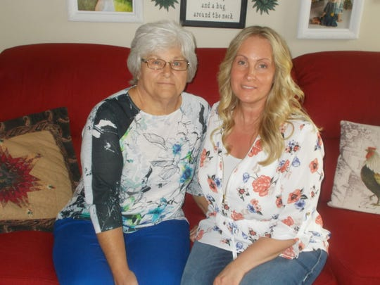 Cindy Mosier, left, and her adopted daughter, Heather. Despite not being biologically related, Heather donated a portion of her liver to her mother.  Her liver was a perfect match.
