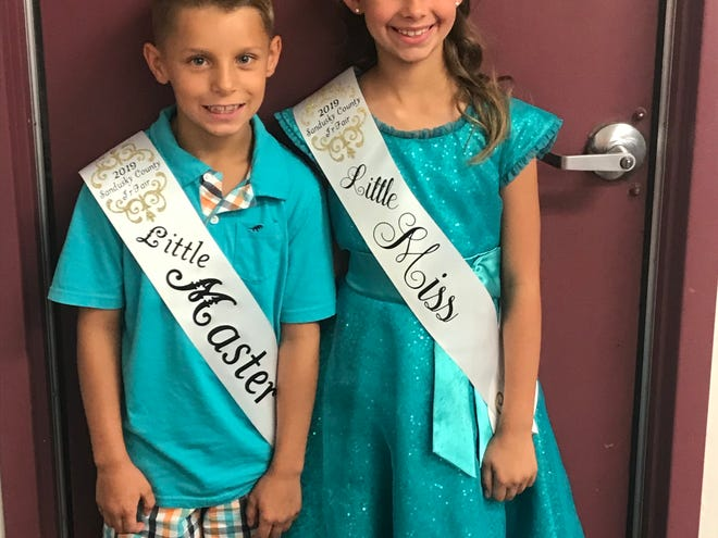 The Little Master and LIttle Miss for the Sandusky County Fair are Cole Kaser and Emma Vinier.