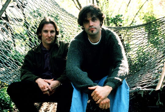 "Dan Myrick, left, and Eduardo Sanchez in 1999. The friends wrote, directed and edited the movie ""The Blair Witch Project."""