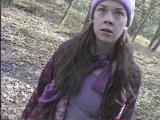 "Heather Donahue in a scene from ""The Blair Witch Project"""