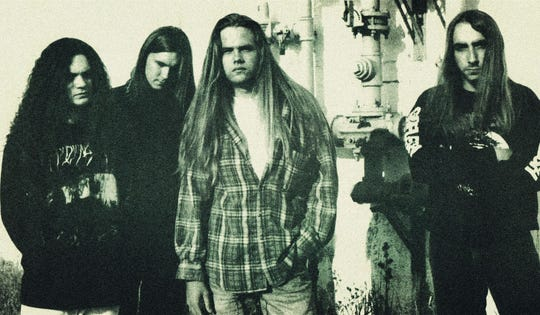 That's Green Bay industrial metal band Bleed in 1993. Members, left to right, are Jason DeJardin, Tim Pantzlaff, Thomas Danz and Bill Kabacinski.