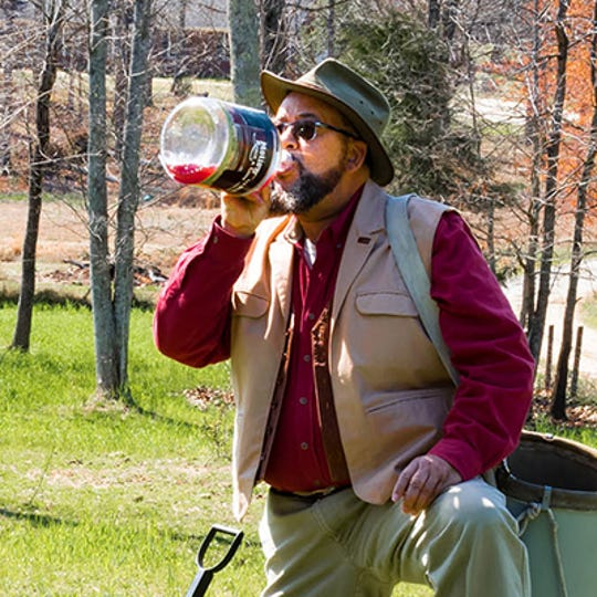 John Macomson, owner of Fat Ass Heifer Cider, located in Campobello, South Carolina, produces specialty hard apple and pear ciders.