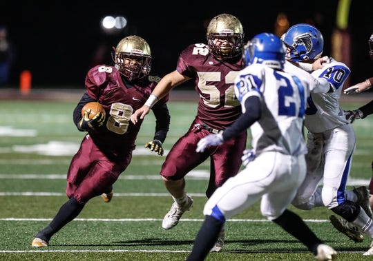 Lutheran running back Marcus McFadden (8) and the Saints have their sights set on a state title run.