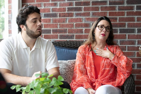 """Chalene Braun, and her son Kavan Braun describe the selflessness of her daughter, Kassie Braun, after launching a non-for profit in her memory called """"Kassie Kares,"""" at her McCordsville home on Tuesday, Aug. 13, 2019. Kassie Braun died tragically two years ago at the age of 20, in Bagan, Myanmar, while photographing ruins with Semester at Sea classmates. She fell to her death when centuries-old bricks gave way beneath her feet"""