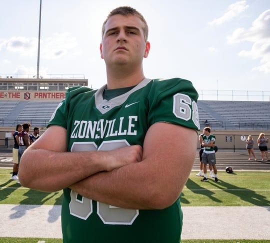 Zionsville offensive lineman Gus Hartwig