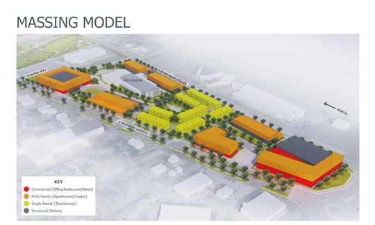 On Aug. 14, city officials in Greenwood detailed plans for a nearly 20-acre redevelopment project aimed at revitalizing the city's downtown area, known as Old Town. Plans include more than 200 apartments and townhomes and tens of thousands of square feet of commercial space.