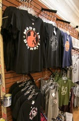 """Kid Rock's """"Made in Detroit"""" line of T-shirts, are now available at downtown Howell's Heart of Michigan store, shown Wednesday, Aug. 14, 2019."""
