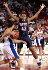 Crystal Kelly was named KentuckyÕs Miss Basketball in 2004 after averaging 14.2 points and 9.3 rebounds and leading the Valkyries to their third straight state title. She also was named Gatorade Kentucky Player of the Year in 2003 and 2004. Her 2,377 career points and 1,478 career rebounds are school records. Kelly went on to play at Western Kentucky University, where she holds career records for points (2,803) and rebounds (1,258). Her jersey No. 42 was retired during her senior season in 2008. Kelly was a third-round pick in the 2008 WNBA draft and played three seasons in the league. She was inducted into the Kentucky High School Athletic Association Hall of Fame in 2015 and currently is an assistant coach at Tennessee Tech.
