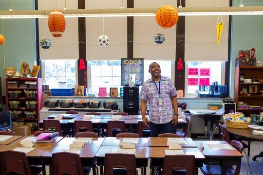 Fourth grade teacher Andre Warfield.