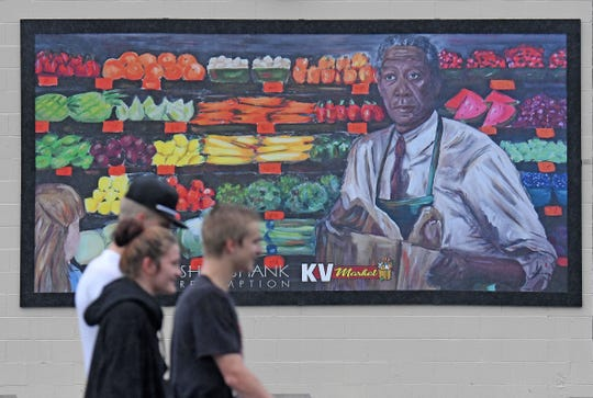 "KV Market on Fourth Street, formerly the E&B Market, was the Food-Way grocery store site during the filming of ""The Shawshank Redemption."" The store is now a stop on the Shawshank Trail and features a mural of Freeman's character Ellis Boyd 'Red' Redding, inside and another on the store's exterior."