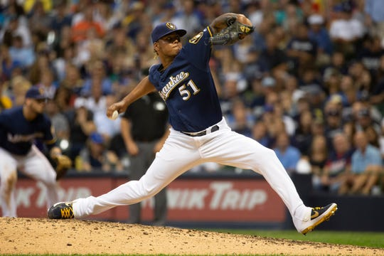 Freddy Peralta agreed to a five-year contract extension Wednesday.