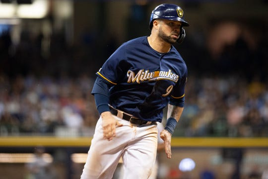Manny Piña is entering his fifth season with the Brewers.
