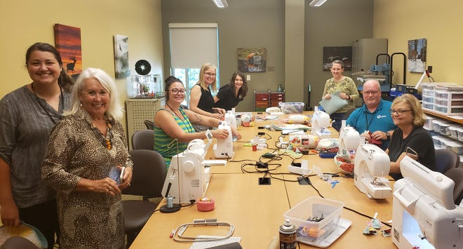 The Baxter County Library Staff had a blast learning to embroider from Katie Risk. Keep an eye out for the embroidery class in this fall's Library Program Guide coming in September.
