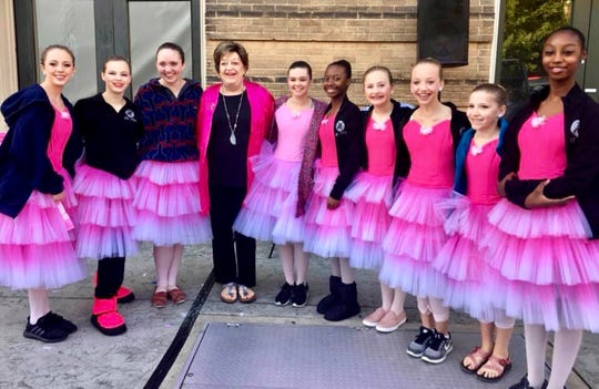 ADT dancers with Kitty Seale at the Joy to Life walk.