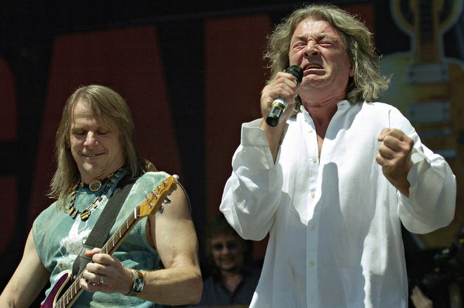 Deep Purple performs during the Canadian Live 8 concert in Barrie, Ontario, in July 2005. The British band rolls into Florida for concerts in September 2019.