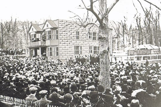 Labor rally at the Botto House, 1912.
