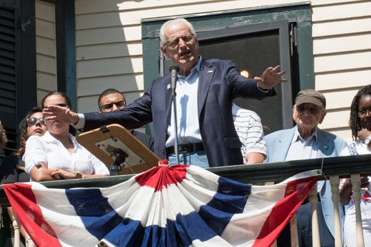 Labor Day 2016: Congressman Bill Pascrell addresses crowds at the American Labor Museum/Botto House National Landmark  in Haldeon