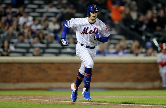 "Brandon Nimmo (bulging disk in neck) could be playing in a rehab game ""as early as the next few days,"" GM Brodie Van Wagenen said on Wednesday, Aug. 14, 2019."