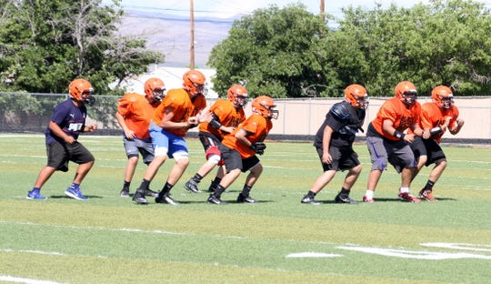 Lordsburg linemen are a key component to the Mavericks run-n-shoot offense.
