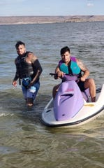 """Andrew """"Ruckin"""" Guerrero and his best friend Michael Kyle Maria were photographed together for the last time Saturday, Aug. 10."""