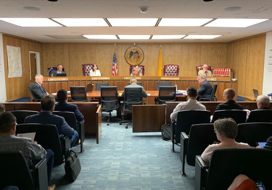 Navajo Nation officials addressed the New Mexico Public Regulation Commission, Wednesday, Aug. 14, 2019, in Santa Fe.