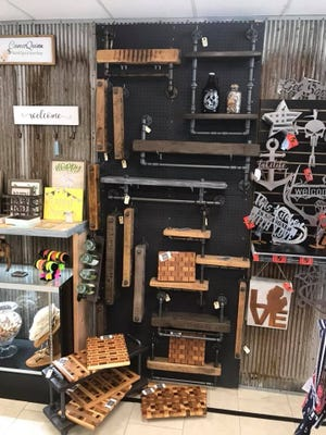 Some of the items for sale at a previous Chic and Unique Market. The market will open from 10 a.m. to 4 p.m. Sunday in the parking lot of Laurel Park Place in Livonia.