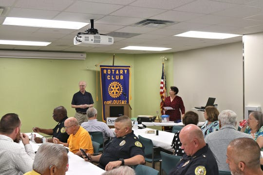 Several officers of the year were honored Tuesday during the Opelousas Rotary Club meeting. Pictured is club member Bruce Gaudin.