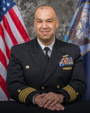 Capt. Theron Toole, former commander of Naval Medicine Operational Training Center at Naval Air Station Pensacola.