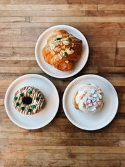 A trio of pastries from Prep and Pastry. Everything is made fresh on the premises daily.