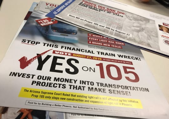 South Phoenix residents have been inundated with mailers from both sides of the Proposition 105 fight.