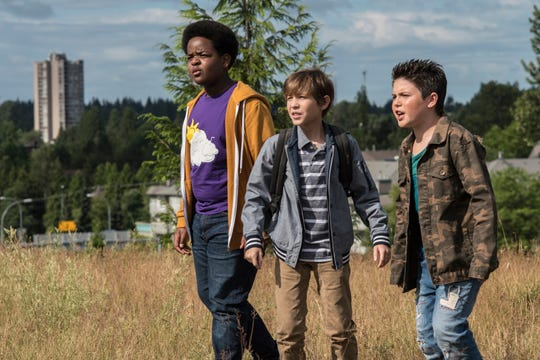 """In """"Good Boys,"""" Lucas (Keith L. Williams, from left), Max (Jacob Tremblay) and Thor (Brady Noon) are 12-year-old pals."""