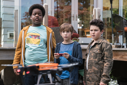 "Keith L. Williams, Jacob Tremblay and Brady Noon in ""Good Boys."""