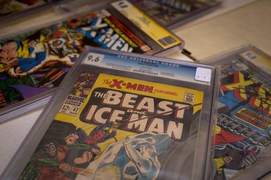 A few of Robert Letscher's X-Man comic books as seen on Aug. 7, 2019, in Mesa.