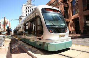 Valley Metro light rail on Aug. 14, 2019, in Phoenix.