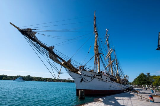 The Picton Castle made a short stop in Algonac after the Sarnia Tall Ships Celebration, as part of the 2019 Great Lakes Tall Ship Challenge. From Algonac, the ship will sail to Kingsville, Ontario, then on to Erie, Pa., the last stop on the voyage.
