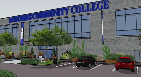 A rendering of the Dutchess Community College site in Fishkill.