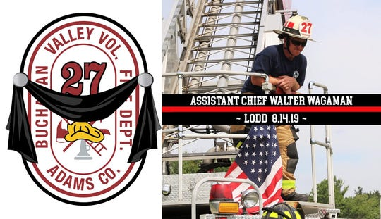 Assistant Chief Walter Wagaman died Wednesday morning, nearly two weeks after he sustained severe injuries in the line of duty.