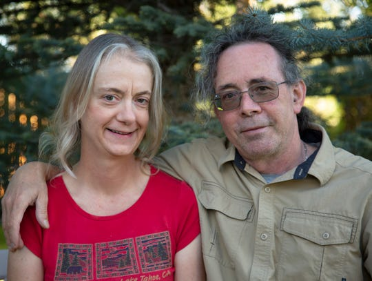 "Kimberly and Patrick Wilkes, authors of ""Lake Tahoe Camping with Privacy."""
