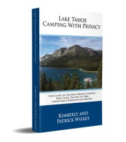 "The book ""Lake Tahoe Camping with Privacy"" by Kimberly and Patrick Wilkes."