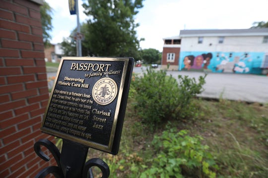 Clarissa Street was known for its jazz clubs and for being one of the first African American neighborhoods in Rochester.  Some of the famous clubs and locations are now gone or moved.  A marker shows the importance of this area of Clarissa St.