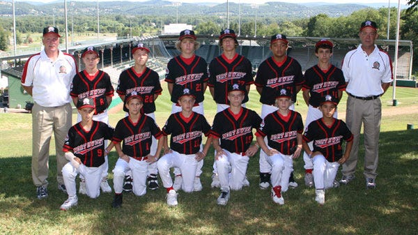 Murrayhill from Beaverton tied for third at the 2006 Little League World Series, the best finish by an Oregon team. Front row, from left: Alex Powell, Trevor Nix, Perry Lampman, Austin Perry, Bryan Domogalla and Toma Matisoff. Back row: Coach Ron Pool, Corey Pool, Jace Fry, Devon DeJardin, Derek Keller, Miguel Rivera, Sam Albert and Manager Jeff Keller.