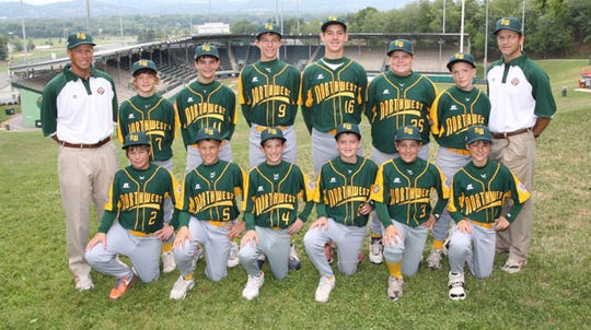 Lake Oswego represented the Northwest in the 2007 Little League World Series. Front row, from left: Harrison Ramey, Mitchel McLaughlin, Levi Rudolph, Michael Gallagher, Austin Andrews and Cooper Hummel. Back row: Manager Craig Ramey, Duncan Campbell, Brennan Malagamba, Calvin Hermanson, Mitch Lomax, Reid Penney, Michael Weiss and Coach Kevin Campbell.