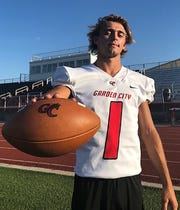 Hunter McMillan from Garden City is the Utility Player of the Year on the 2019 All-West Texas Six-man Football Team.