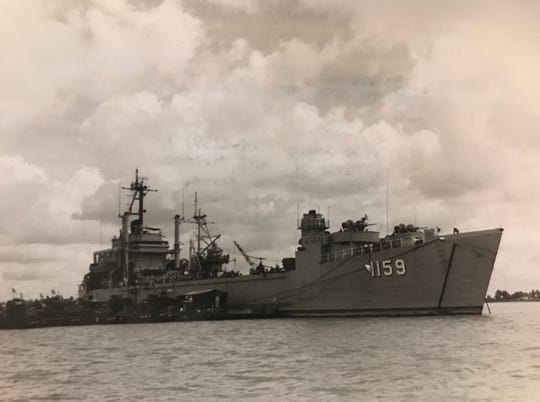 For many years, the San Angelo Standard-Times followed the progress of the U.S.S. Tom Green County (LST-1159) on her missions in the Pacific Ocean.