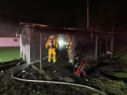 A structure fire on Bayfront Street in Greenbackville left two people and one pet injured. Two victims sustained second-degree burns during the fire.