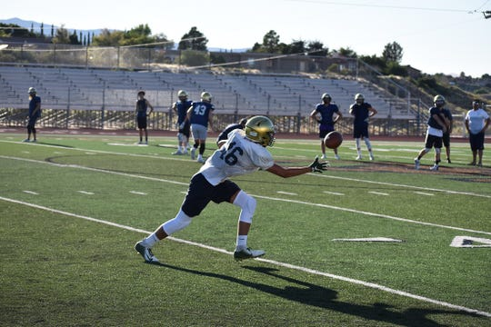 Snow Canyon football practices during fall camp on August 13, 2019.