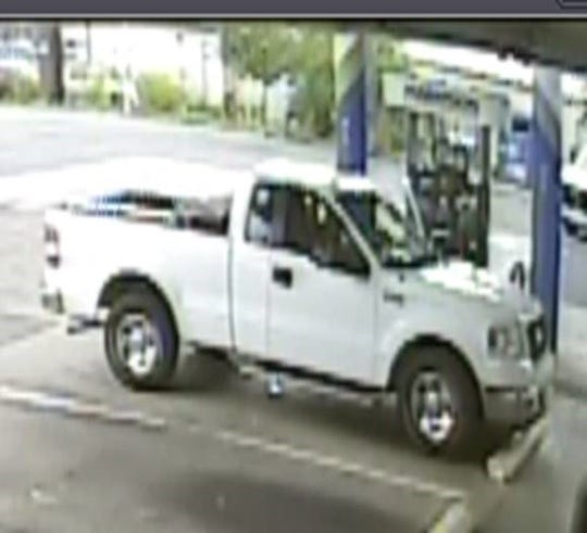 Ford F-150 driven by the suspect