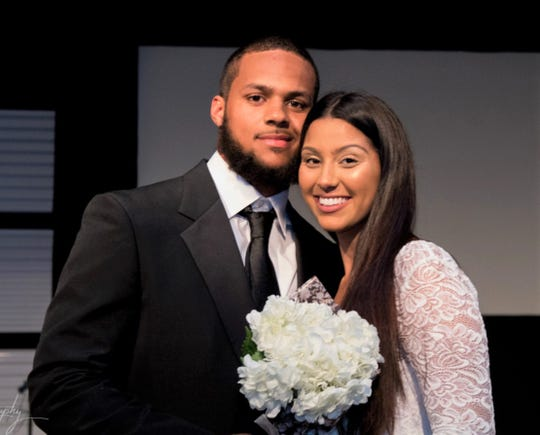 FAMU linebacker Elijah Richardson and wife Jeanette were joined together in marriage on April 28, 2018.
